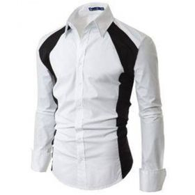 White shirt with black edging