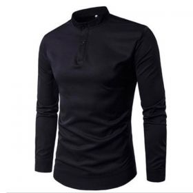 Men black blouse