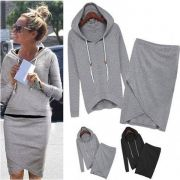 Women hoodies and skirt