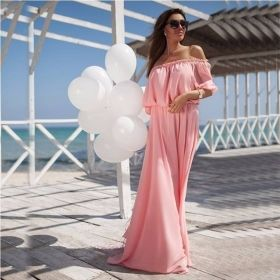 pink chiffon dress