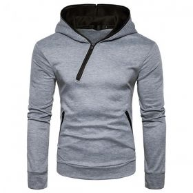 Mens hoddie with zipper